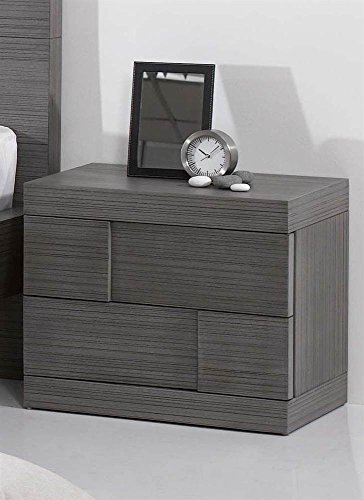 Chintaly Imports Sydney 2 Drawer Nightstand, Grey by Chintaly Imports