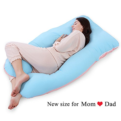 QUEEN-ROSE-61-Full-Body-Pregnancy-Pillow-Maternity-Body-Pillow-Nursing-Cushion-for-Back-Pain-with-Washable-Cotton-Outer-Cover