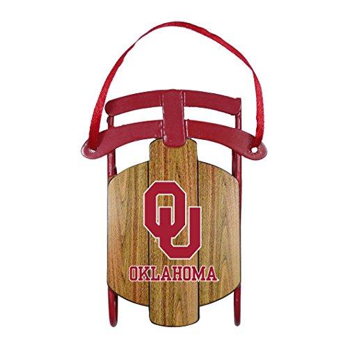 NCAA Oklahoma Sooners Metal Sled Ornament