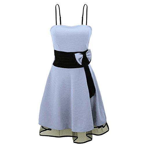 Laeticia Dreams - Vestido de mujer Petticoat Rockabilly S M L XL azul claro