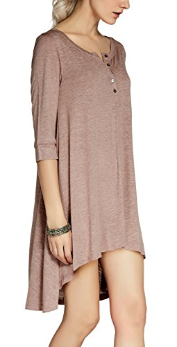 Dress Tee Pink Urban Sleeve Low High Shirt T Loose CoCo Half Top Casual Women's qCWnr17wq
