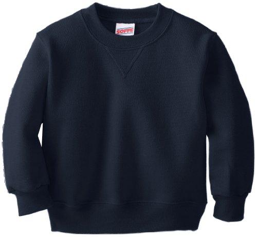 Soffe Little Boys' Crew Sweatshirt, Navy, Small