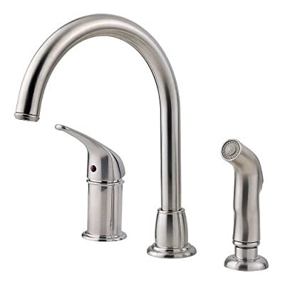 Pfister LF-WK1-680S Cagney 1-Handle Kitchen Faucet with Side Spray in Stainless Steel