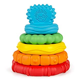 Baby Einstein Stack & Teethe Multi-Textured Easy-to-Grasp 5Piece Teether Toy Set, Ages 3 Months + (12356)
