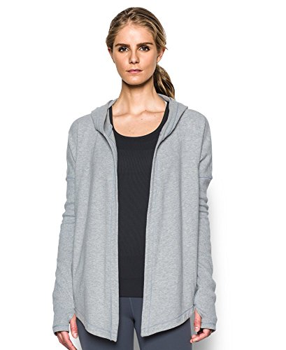 Under Armour Women's Modern Terry Open Front Cardigan, True Gray Heather (025), X-Small