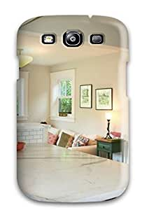 Series Skin Case Cover For Galaxy S3(dark Peninsule And Built-ins In Transitional Kitchen) by lolosakes