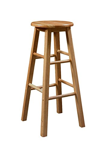 Surprising Amazon Com Barstools Bar Stool With Round Seat Solid Wood Dailytribune Chair Design For Home Dailytribuneorg
