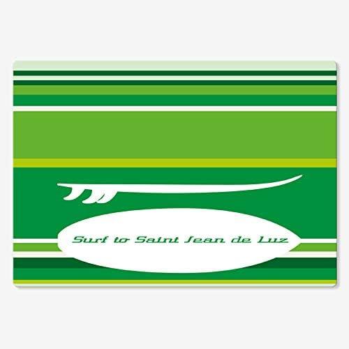 Juego de 4 manteles individuales de surf de San Juan de Luz, ropa de mesa, 35 x 50 cm 50 x 35 cm verde: Amazon.es: Hogar