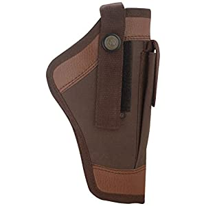 Shah Unisex Leather 9mm Pistol Cover, Brown