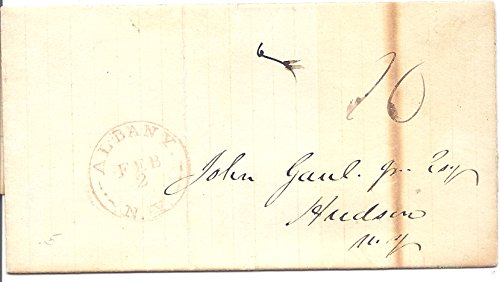 1842 Stamp less Cover Albany, NY Feb.2.