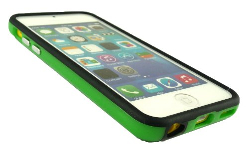 Emartbuy® Sparkling Pack Stylet Pour Apple Iphone 5c Vert Mousseux Mini Stylet + Protecteur D'Écran Lcd + Solide Gel / Étui / Housse Housse / De Butoir Moulé Vert / Noir