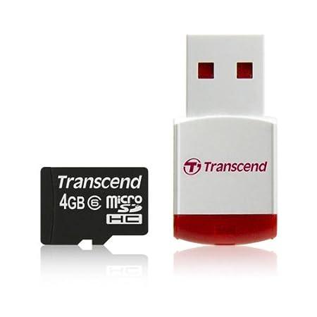 Amazon.com: TRANSCEND TS4GUSDHC6-P3 4 GB de CLASE 6 TARJETA ...