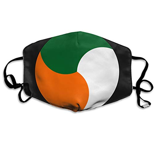 SDQQ6 Roundel of Ireland Mouth Mask Unisex Printed Fashion Face Mask Anti-dust -