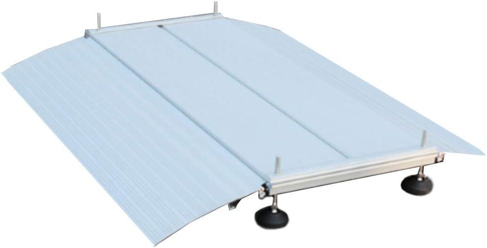 JLXJ Rampas Rampa de Entrada de Aluminio para Sillas de Ruedas, Umbral de Transición, Escaleras, Escalones, Rampas de Entrada Portátiles (Size : 70×74cm/27.5×29in)