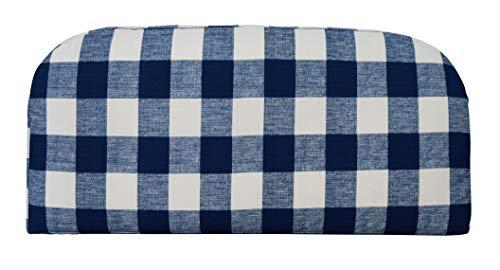 (RSH Décor Indoor ~ Outdoor Anderson Oxford Blue Plaid Foam Loveseat Settee ~ (38x17x3))