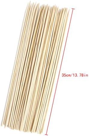 Daeum 50個竹バーベキュースティック、使用する便利さ、キッチンクッキングツール