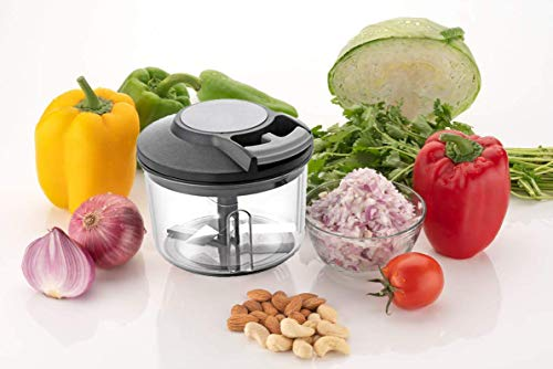 Buyerzone-Mini-Vegetable-Chopper-with-3-Stainless-Steel-Blade-Black