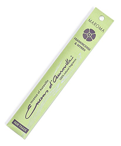 Maroma Sticks - Maroma EDA Incense, Frankincense and Myrrh, 10 Count