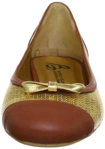 Beverly Feldman CHICA_1 50120-710-400 - Bailarinas de cuero para mujer Dorado (Gold (Golden/Cuio))