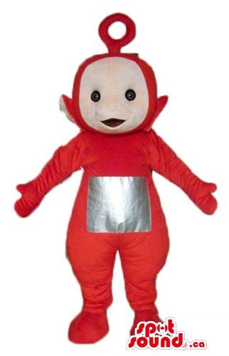 Red teletubby cartoon character SpotSound Mascot US costume fancy dress - Teletubby Fancy Dress