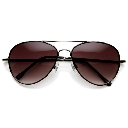zeroUV - Small Frame Women Aviator Sunglasses for Small Faces 50 mm (Gunmetal)