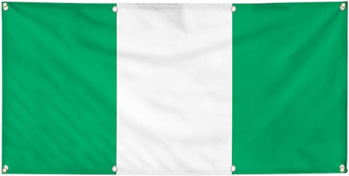 4 Grommets Vinyl Banner Sign Nigeria Flag Green White Countries Outdoor Marketing Advertising Green 24inx60in Multiple Sizes Available Set of 3