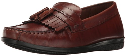 Dockers Men's Freestone Slip-On Loafer, Antique Brown, 9.5 M - Tassel Kiltie