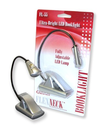 Carson Optical FlexNeck Ultra Bright, Fully Adjustable LED Book Light (FL-55)