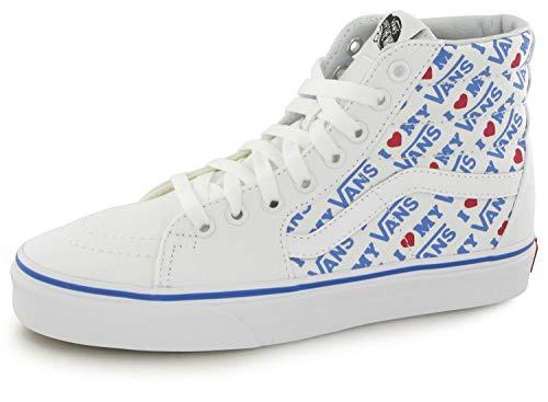 Vans Unisex I Heart Sk8-Hi True White/True White Sneaker - 5 (Unisex Heart)