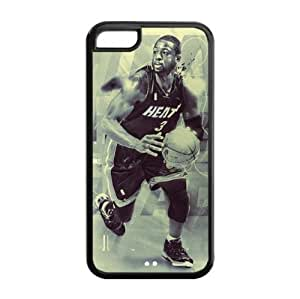 Newly Designed iPhone 5C TPU Case with Miami Heat Dwyane Wade Image for NBA Fans-by Allthingsbasketball