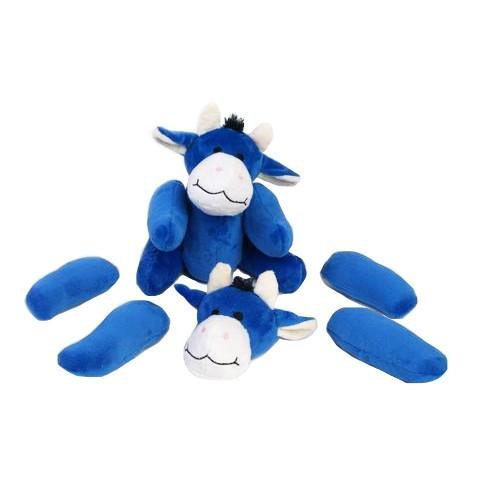 Interactive Pull Apart Dog Toy - Cow