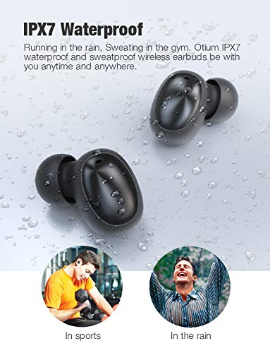 Otium Wireless Earbuds Bluetooth 5 0 Headphones Deep Bass 3d Stero Sound Mini Headsets 40h Total Playtime With Charging Case Ipx7 Waterproof Built In Mic Earphones For Work Sports Driving Agubuy