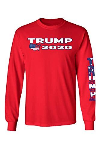 SHORE TRENDZ Unisex Trump USA Flag Long Sleeve ()