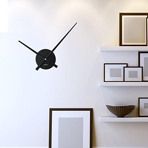 WALPLUS Designer Flexi Minimal Wall Clock Black -