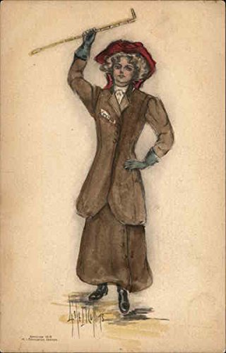 Woman with Riding Crop Artist Signed Original Vintage Postcard from CardCow Vintage Postcards