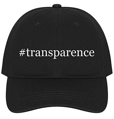 The Town Butler #Transparence - A Nice Comfortable Adjustable Hashtag Dad Hat Cap, Black