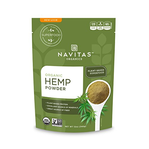 Navitas Organics Hemp Powder, 12 oz. Bag - Organic, Non-GMO, Cold-Pressed, Gluten-Free