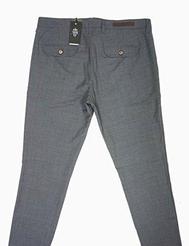 NEW $495 ELEVENTY GRAY 95% WOOL PENCES TRAVEL PLEATED CUFFED DRESS PANTS SZ 36 by Eleventy (Image #3)
