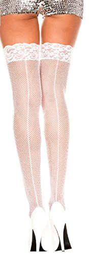 Dreamgirl Fishnet (Dreamgirl Women's Fishnet Thigh High Plus Size Black)