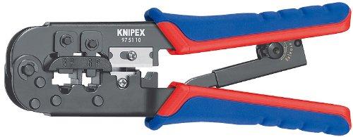 - KNIPEX 97 51 10 Western Plug Type Comfort Grip Crimping Pliers