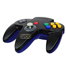 CyCO Nintendo 64 Classic Hybrid Controller - Black/Blue