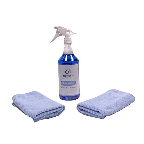 Honest Wash Car Care Window Cleaning Kit - Everything to Clean Your Windows and Mirrors on your Car or Truck - Includes Glass Perfect Window Clean and Microfiber Towels (Clean Your Kit For Car)