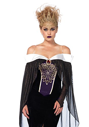 Leg Avenue Women's Her Royal Darkness Costume, Black, Medium - Queen Of Darkness Costume