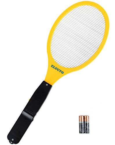 Electric Bug Swatter (Elucto Electric Bug Zapper Fly Swatter Zap Mosquito Best for indoor and Outdoor Pest Control(AA Batteries Included))
