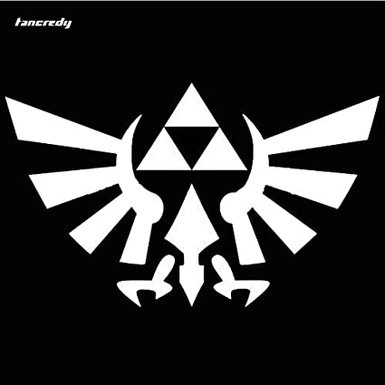 White one 2pcs the 2nd half price zelda triforce anime 3d car sticker motorcycle