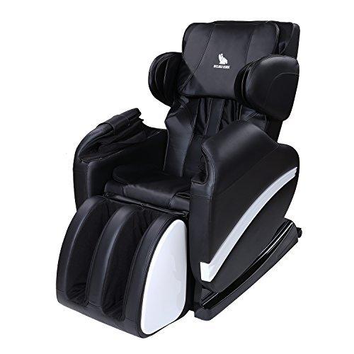 ORKAN Full Body Shiatsu Massage Chair Recliner ZERO GRAVITY Foot Rest WHITE