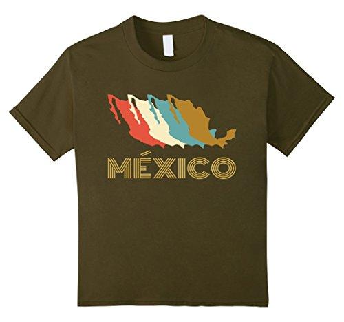Kids Vintage Mexico T-shirt | I Love Mexico Tee | Camiset...