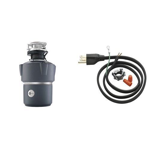 InSinkErator Cover Control Plus Evolution 3/4 HP Household Garbage Disposer and Power Cord Kit Bundle