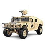 Beshine 4*4 Military Vehicles Hummer with 2.4GHz Control System 30Km/h Rc Truck for Both Kids and Adults (Desert)
