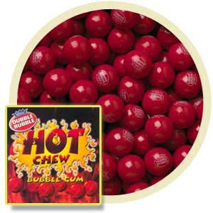 Dubble Bubble Hot Chew Cinnamon Gumballs, 5LBS